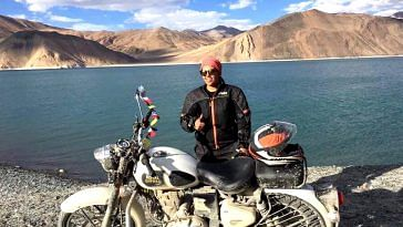 For Riya, her expedition to Ladakh was just 7 months after she got her first motorcycle. Image Credit: Riya Yadav