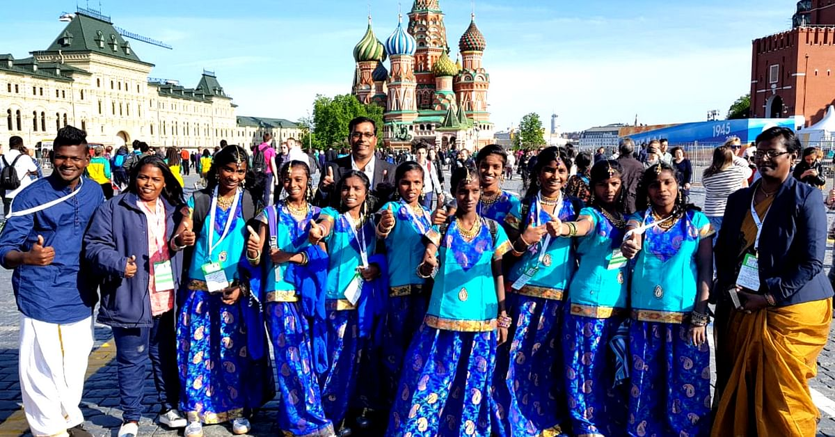 From Chennai, to Moscow, representing India, these girls have come a long way. Image Credit: Karunalaya