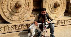 Gowtham and Chandramouli, in Hampi, Karnataka. Image Courtesy: Gowtham