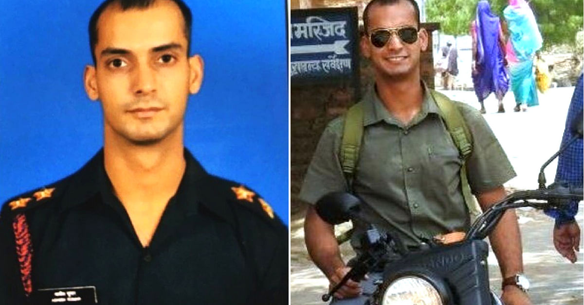 Lieutenant Ashish of the Regiment of Artillery of the Army. Image Courtesy: Twitter.