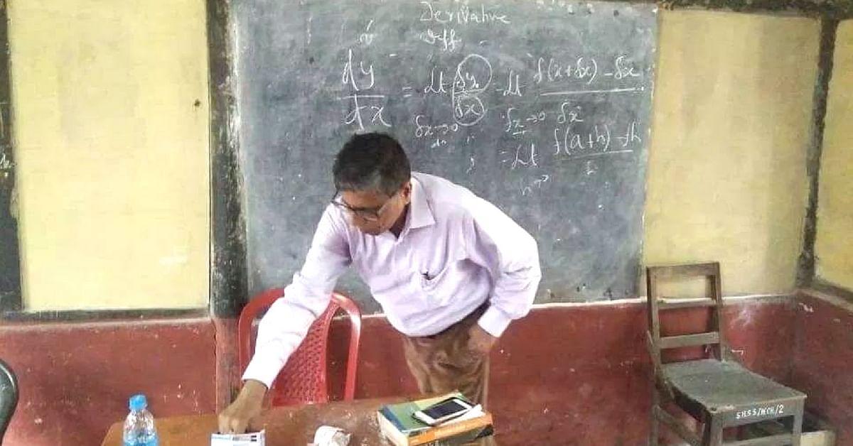 Former Assam DGP Mukesh Sahay is now a school teacher. (Source: Twitter/Nandan Pratim Sharma Bordoloi)
