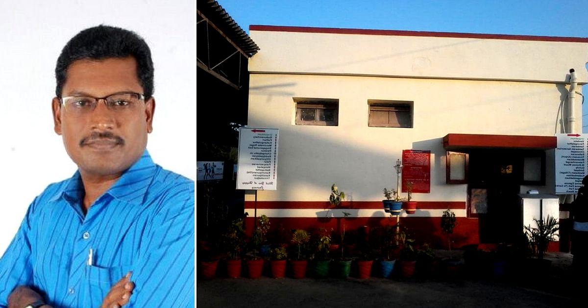 Rajesh Kannan Yadav from Tamil Nadu has been working to make Urapakkam Railway Station clean. Image Credits Rajesh Kannan Yadav.