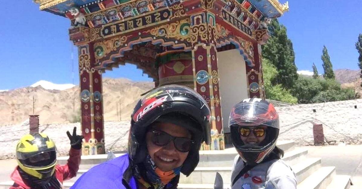 Riya embarked on the journey to conquer ladakh's Khardung-La. Image Credit: Riya Yadav.