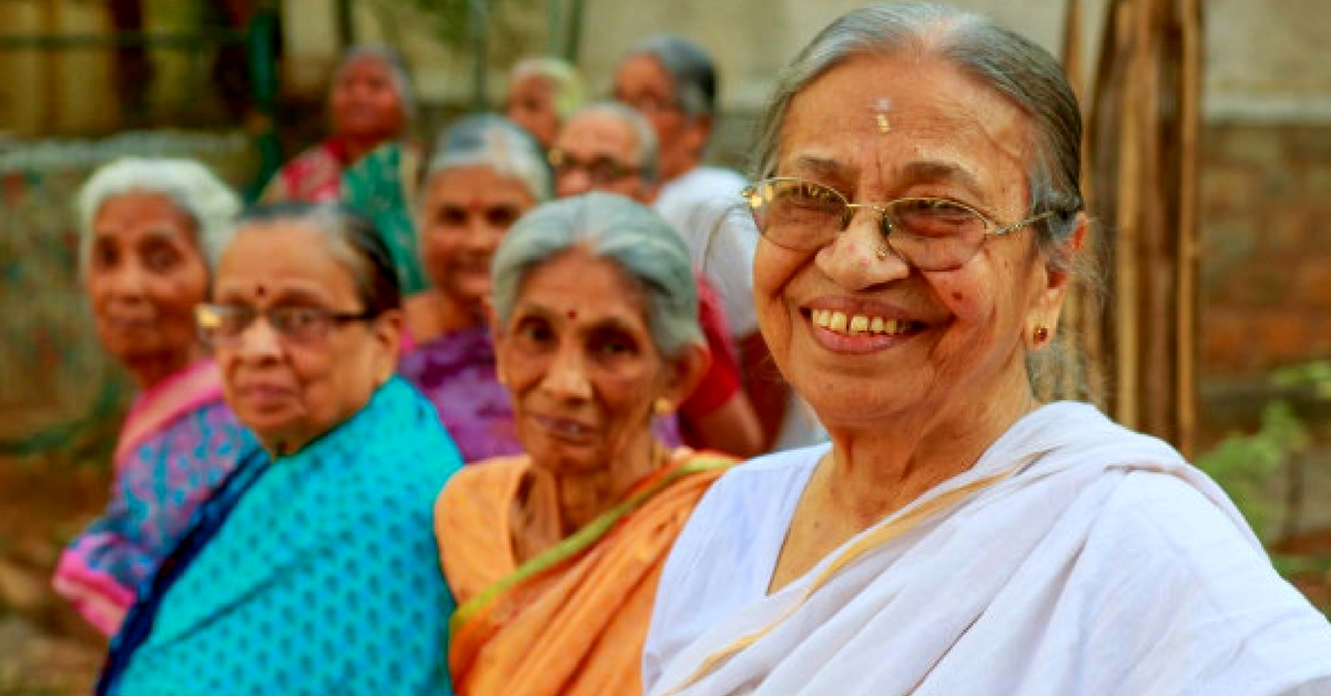 Saroja has one aim-to ensure the happiness of senior citizens who have no one to turn to by building an old age home. Image Courtesy:Milaap.