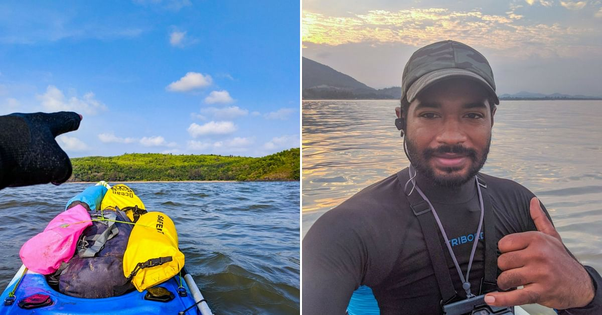 Sushant would kayak for around 20 km a day, in the waters in and around Karnataka. Image Credit: Kayakboy