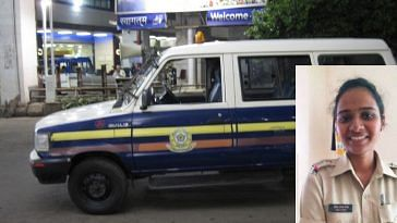 Thanks to the Mumbai Police's presence of mind, a life was saved. Inset Image Courtesy: Twitter