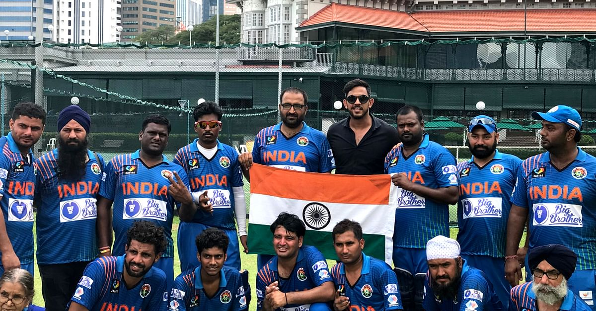 The Indian Team after winning the prestigious Allan Border Cup for the Physically Disabled, 2018. Image Credit: Physically Disabled Indian Cricket Team