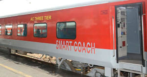 The Railways has rolled out SMART coaches for better journeys. Image Credit: Northern Railway