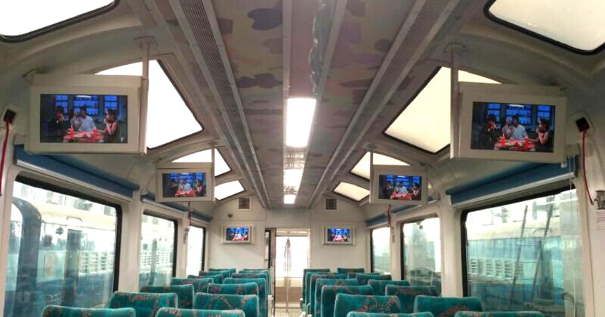 The Railways introduced vistadome coaches, with transparent ceilings.Image Credit: Facebook