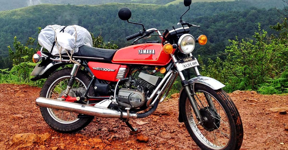 The Yamaha RX100, a 2-stroke wonder that has many fans in India. Image Credit: Instagram