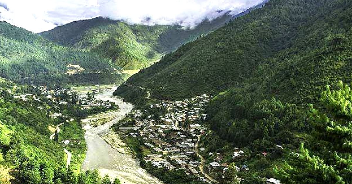 The beautiful Dirang village, in the West Kameng district of Arunachal Pradesh. Image Courtesy: Great Indian Mountains.