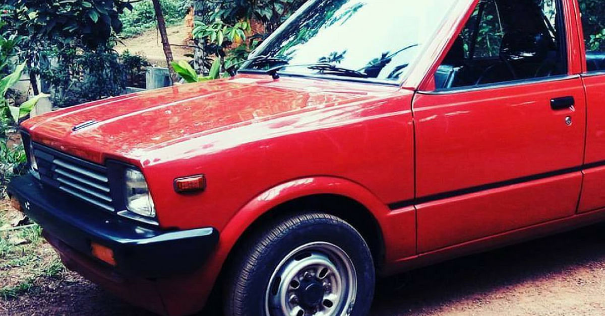 The first model Maruti 800 created a storm, in India. Image Courtesy: Facebook.