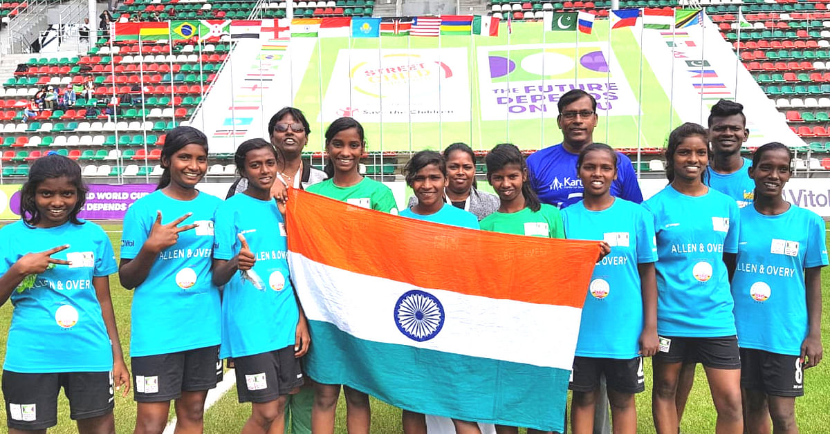 The girls from Chennai have all had a difficult past, but now, through sport, they are building a future. Image Credit:- Karunalaya