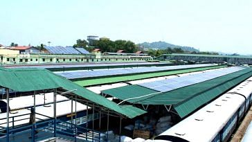 The panels have a huge responsibility-of powering the entirety of Guwahati railway station. Image Credit: Facebook.
