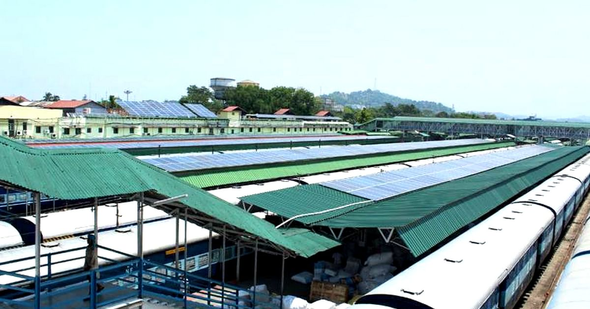 Check Out These Amazing Pics of North-East's First 100% Solar Railway Station, Guwahati!
