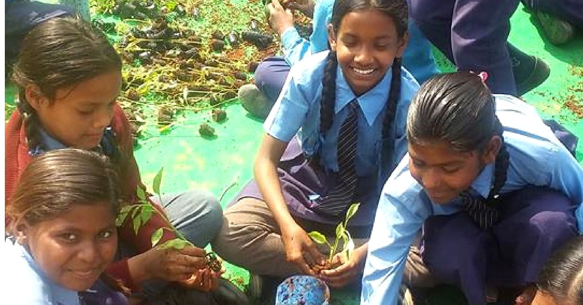 The students from Gurugram went around collecting plants, and managed to get around 170 of them! Image Credit :Give Me TREES Trust