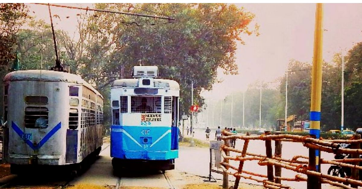 The tram is fast fading into the background, in Kolkata's traffic scenario. Image Courtesy: Instagram.