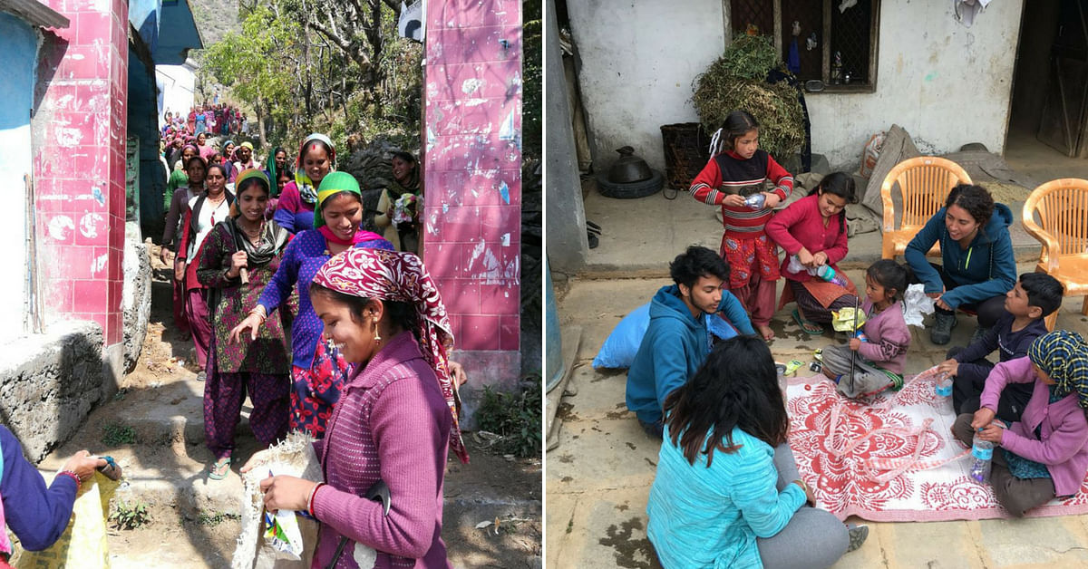 "The women were involved in the initiative, learning to upcycle waste. Image Credit: <a href=""https://indiahikes.com/"">India Hikes.</a>"
