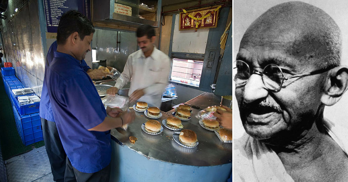 To commemorate Mahatma Gandhi's Birthday, the Railways will serve veg food on October 2nd. Representative image only. Image credit: Wikimedia Commons