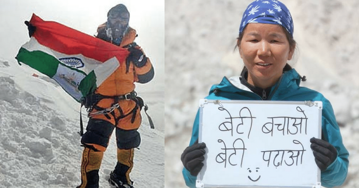 This 40-Year-Old Mother of 4 Girls From Arunachal Just Scaled Mt. Everest!