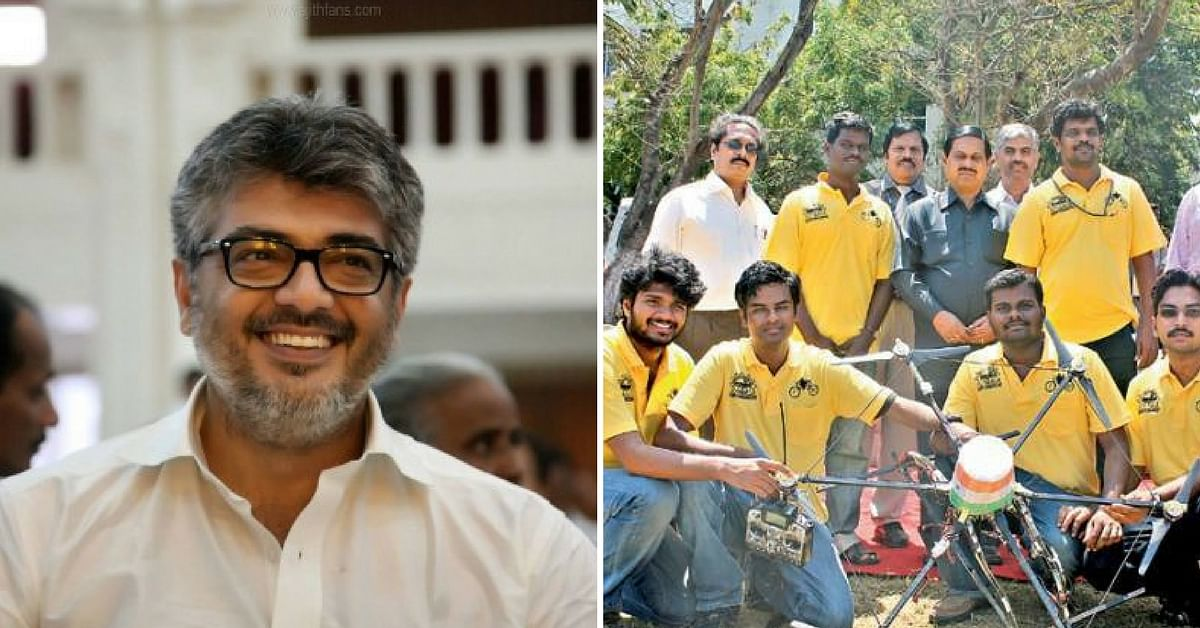 Actor Ajith Teams Up With Chennai MIT Students For Global Drone Challenge!