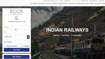 With a simple, clean layout, the new website is minimal and will be a smoother experience, feels the IRCTC. Image Credit: IRCTC