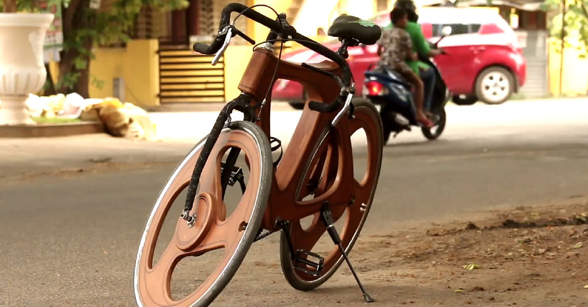 This Coimbatore Man's Stunning Wooden Cycle Is Viral for All the Right Reasons!