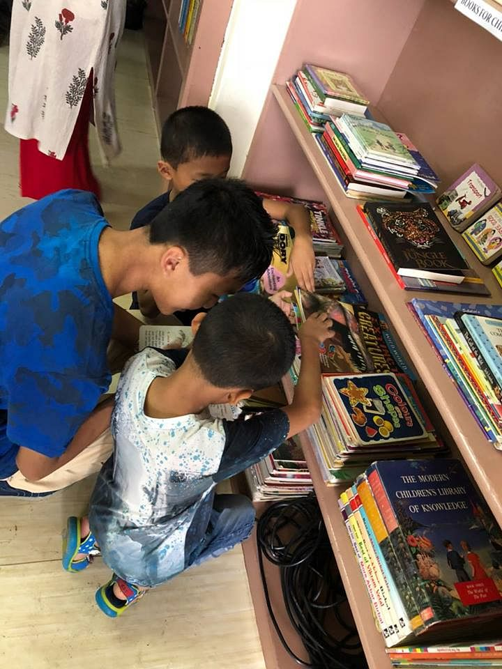Children at the local Dimapur Public Library. (Source: Facebook)