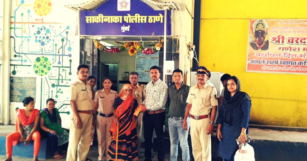 mumbai cops homeless old lady