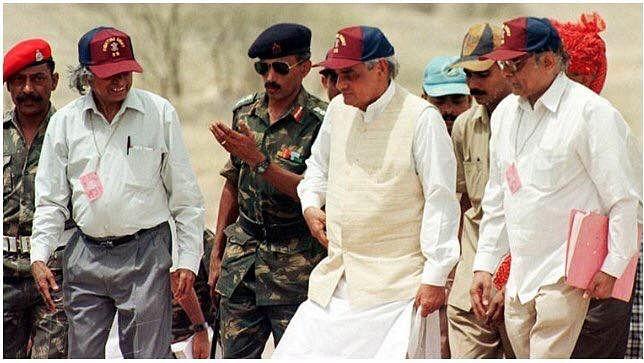 Prime Minister Vajpayee with APJ Abdul Kalam during Pokhran-II tests. (Source: Facebook)
