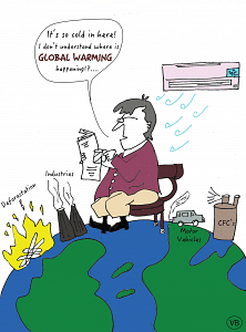 Fuzzy Synapses global warming comic.