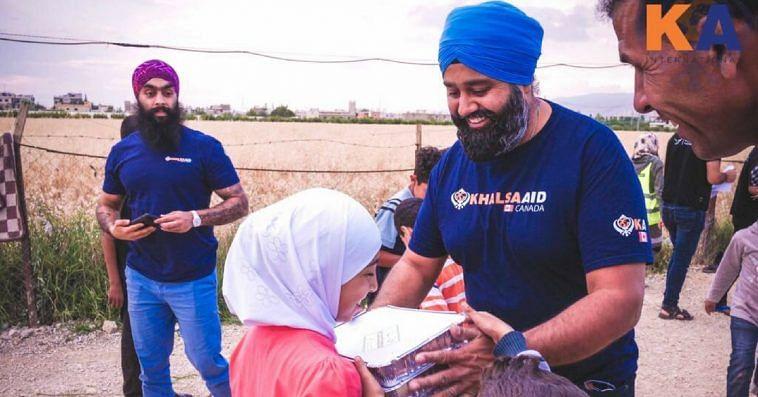 Sikh volunteers Syrian refugees Khalsa Aid