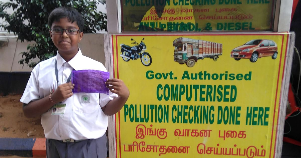 Class 6 Chennai Student Uses Native Grass to Make 'Herbal' Anti-Pollution Mask!