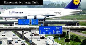 At the Leipzig Airport, aircraft pass over the highway which has traffic, and UP will allegedly have something similar.Representative image only. Image Credit: Civil Engineer Discoveries