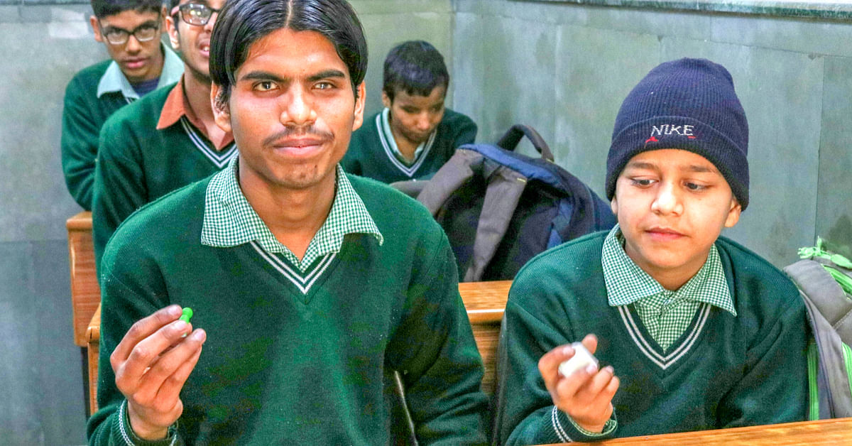 Children with visual impairments find themselves out of the mainstream, because it is difficult to teach them via regular learning methods in Delhi.Image credit: Inklude