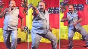 'Dancing Uncle', has become a sensation in India due to his slick moves and immeasurable talent.Image Credit:- Ambika