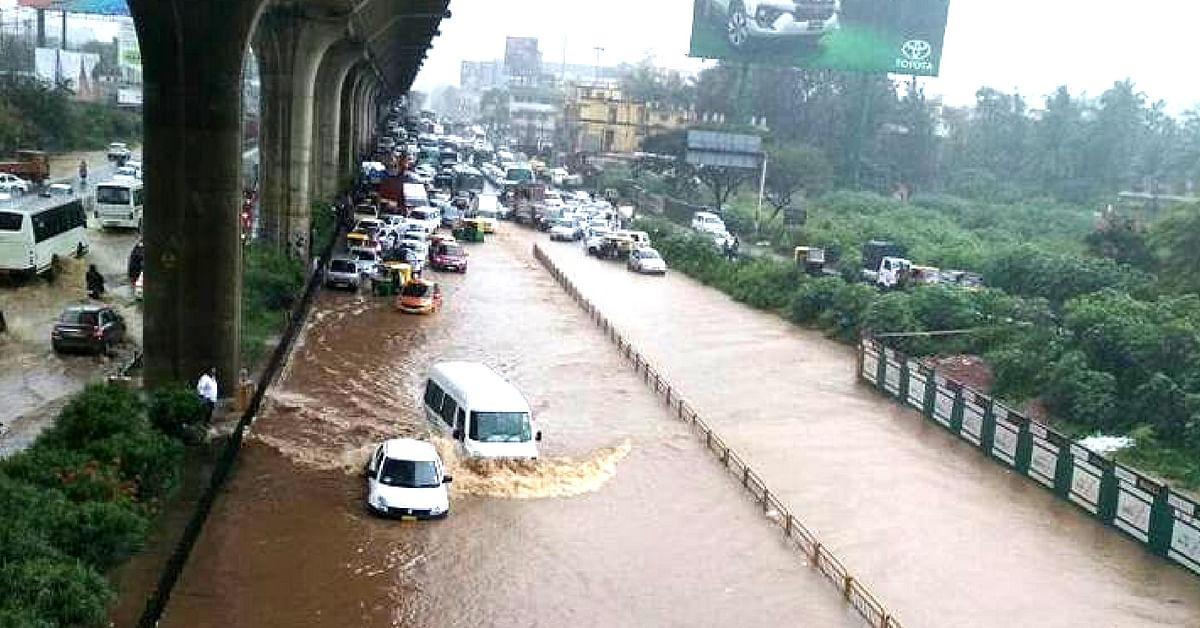 Don't get stranded in the floods, in Bengaluru. Get updates via the upcoming app, and plan accordingly.Image Credit:- Noorunnisa Imran
