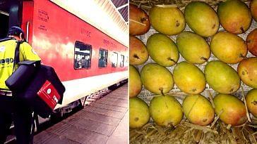 Fresh, organic Alphonso mangoes and warm food, courtesy IRCTC! Image Credit: Ministry of Railways