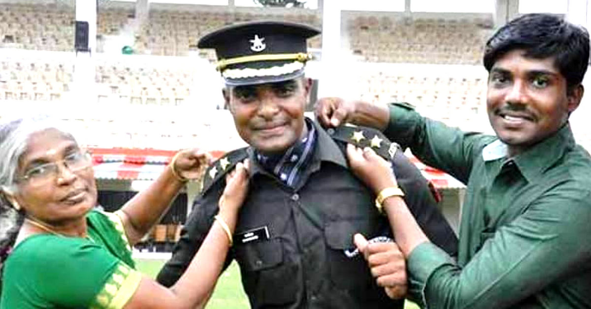 Indian Army Lieutenant Rajshekhar, who cheated death, with a burning desire to serve the nation!. Image Credit: A C Kanade .