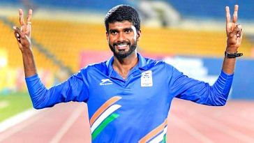 Jinson Johnson of Kerala, leads in his quest for glory. Image Credit: IPL 2018