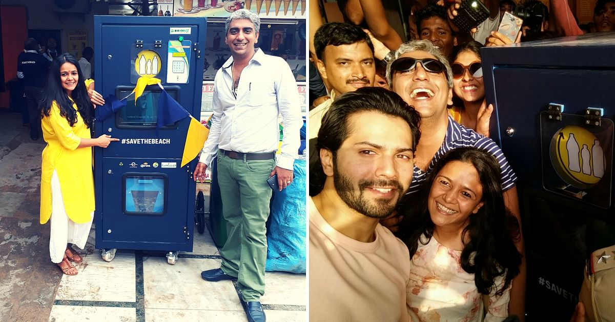 This Uber Cool Kiosk at Juhu Beach Can Recycle over 8,64,000 Plastic Bottles a Year!