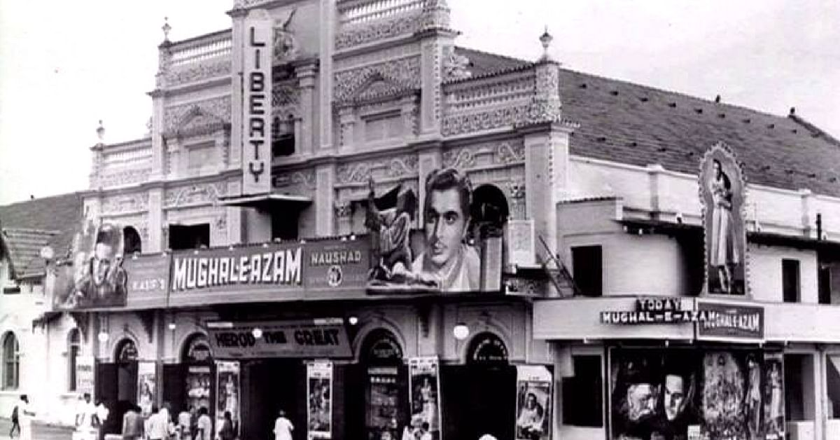 Liberty Cinema, Mumbai, is an art-deco theatre, and screened the Bollywood classic Mughal-e-Azam for 6 years. Image Credit: Dinakar Patnaik