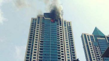 Mumbai high rise fire BeauMonde Towers Worli