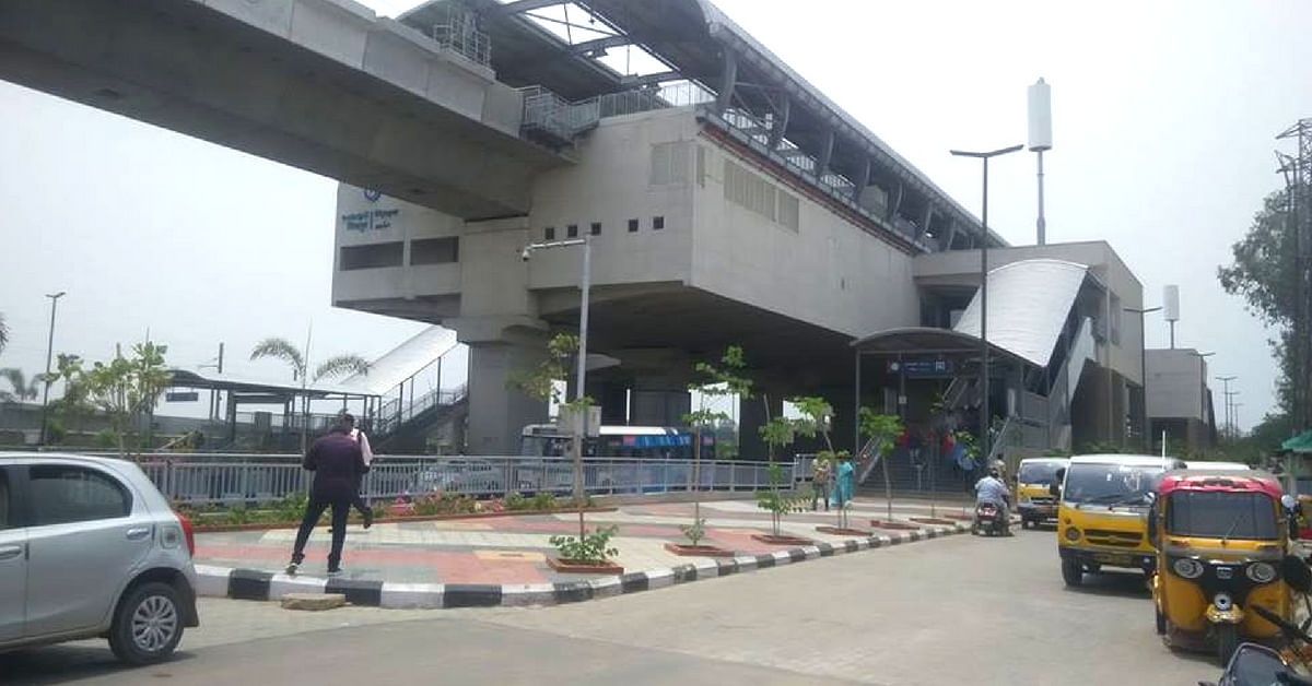 Rent a car, at the Miyapur Metro Station, the next time you are in Hyderabad! Image Credit: Santhosh Banni