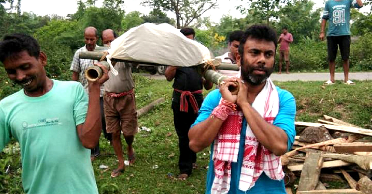 Assam MLA Pays for Poor Man's Funeral, Helps Carry The Body in Final Journey