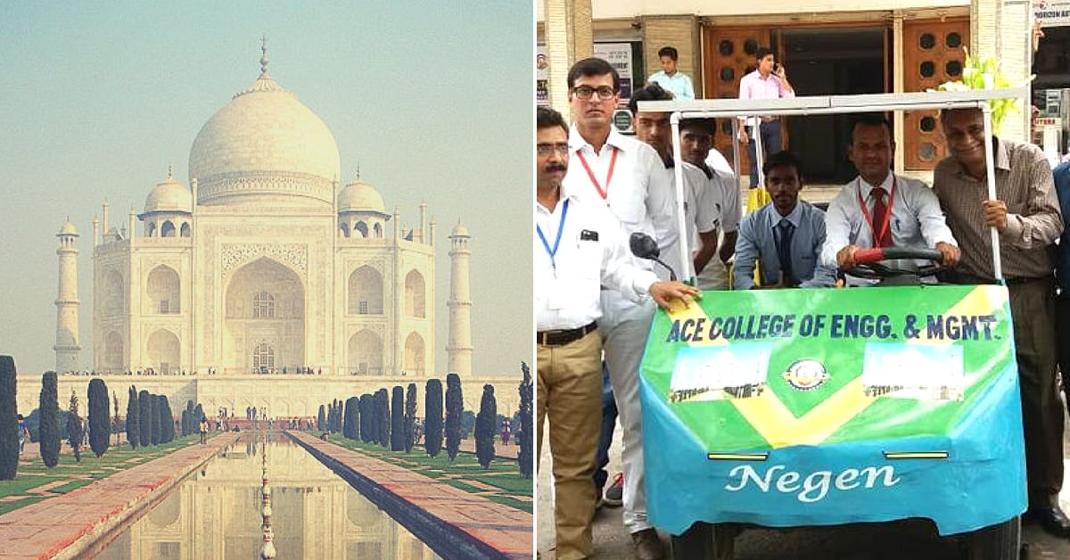 Agra Students Build Solar Car from Recycled Material to Protect Taj from Pollution!