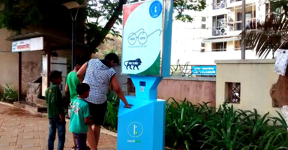 Thane has a Tech Bin, that will give you the opportunity to win gold, by depositing trash! Image Credit: TechBin