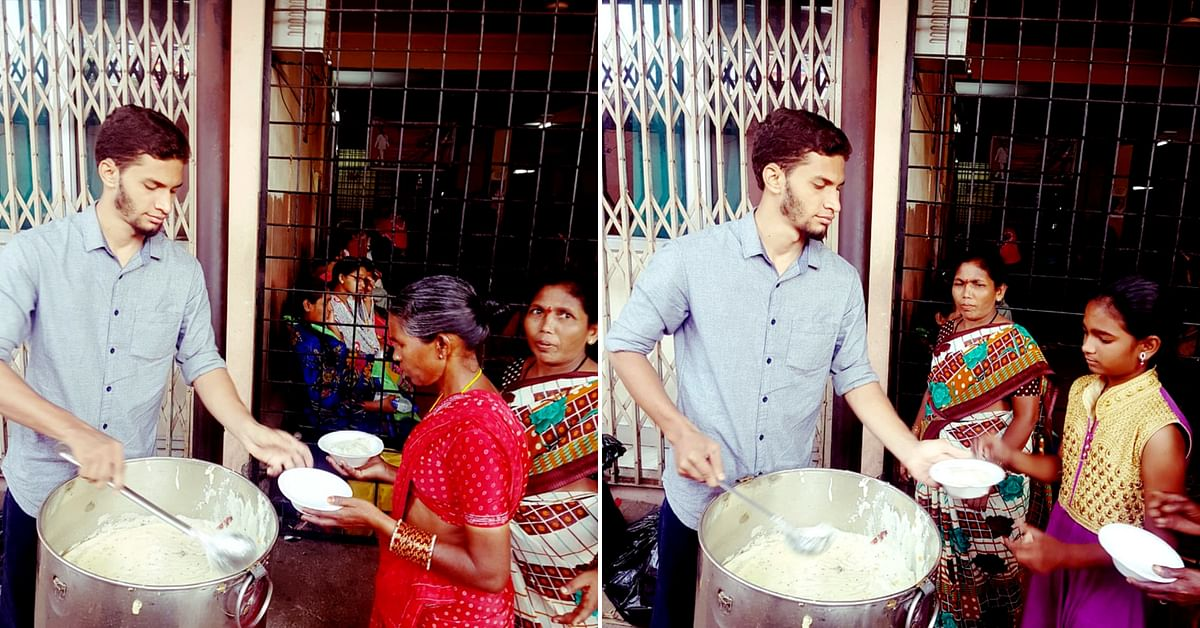 The Hyderabad lad regularly feeds the poor, on a mission to eliminate hunger.