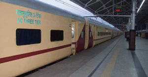The Railway's Utkrisht train sports a completely new look. Image Credit: Ministry of Railways