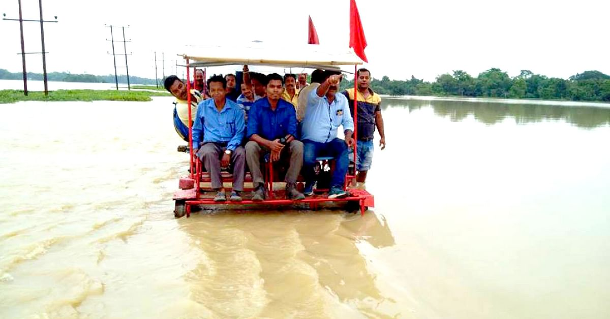 The Railways is helping flood victims in Assam.Northeast Frontier Railway